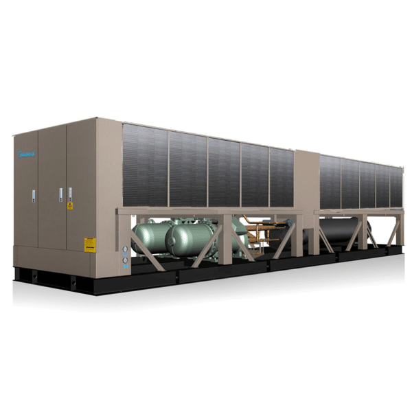 Midea chillers, Water cooled chillers, commercial chillers, replacement chillers, energy-efficient, compact, quiet, Dual stage compression